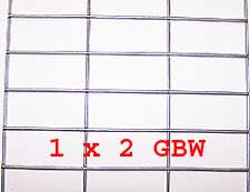 "1"" x 2"" 14 gauge GBW Wire Mesh Roll 100 ft. long"