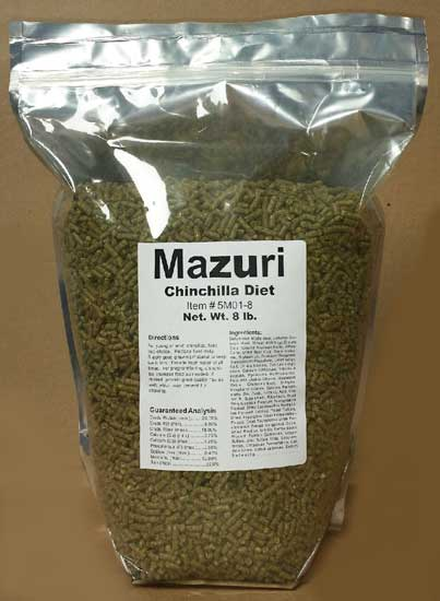 Mazuri Chinchilla Diet 8 pound - Click Image to Close