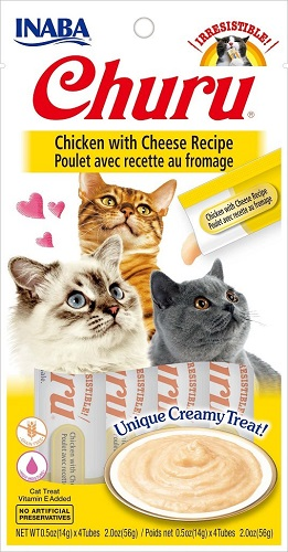 Inaba Churu GF Chicken w/Cheese Puree Cat Trt 4pk
