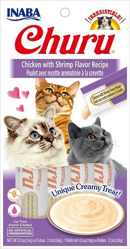 Inaba Churu GF Chicken/Shrimp Puree Cat TrT 4PK