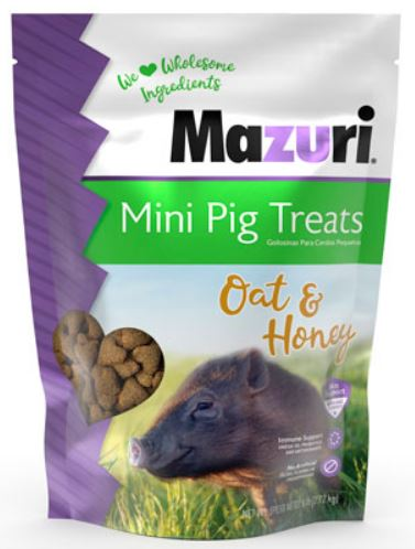 Mazuri Mini Pig Treats Oat & Honey 7#