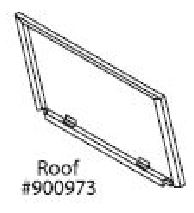 Replacement Roof Panel for Large Premium Plus Hutch (WA 01516)