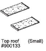 Replacement Small Roof Panel for Prem + Chick-N-Barn (WA 01465)
