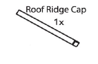 Replacement Ridge Caps for Premium Plus A-Frame Houses