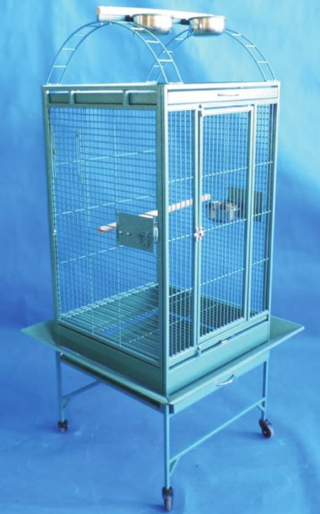"Perch Top Cage with Stand 22"" x 22"" x 31"""