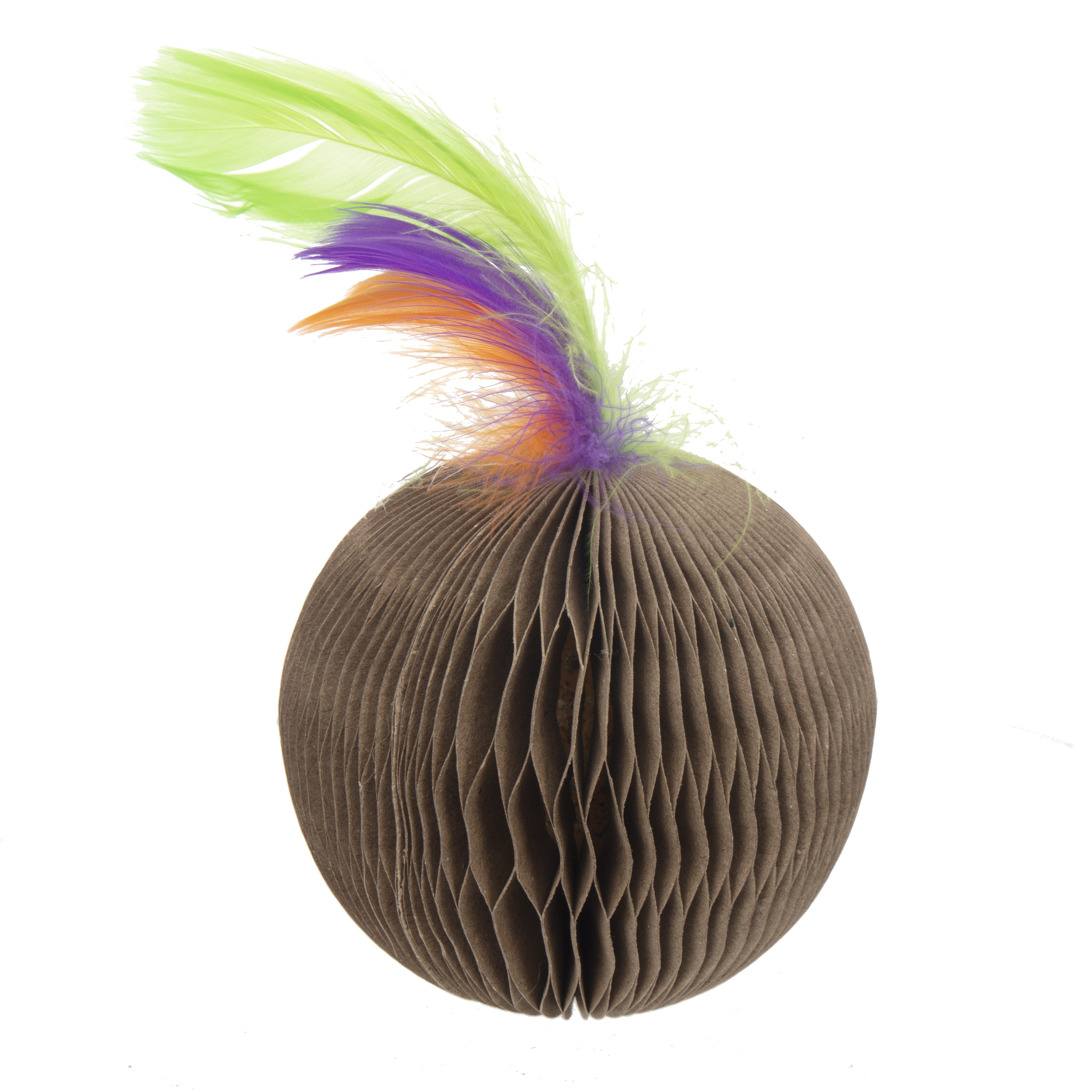Corrugated Feather Ball Cat Toy