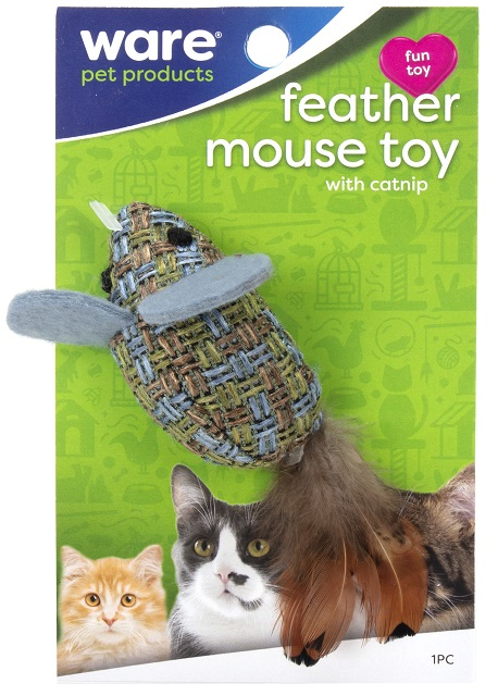 Feather Mouse Toy