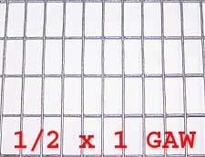 "1/2"" x 1"" 16 gauge GAW Wire Mesh Roll 100 ft. long - Click Image to Close"