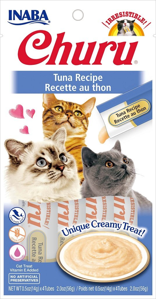 Inaba Churu GF Tuna Puree Lickable Cat Trt 4pk