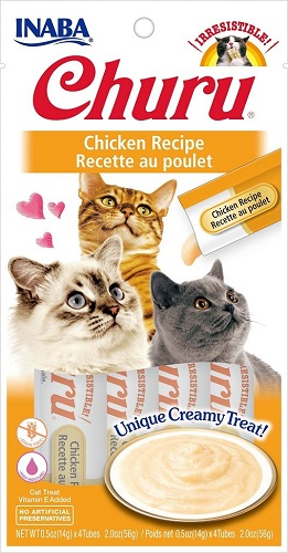 Inaba Churu GF Chicken Puree Lickable Cat Trt 4PK