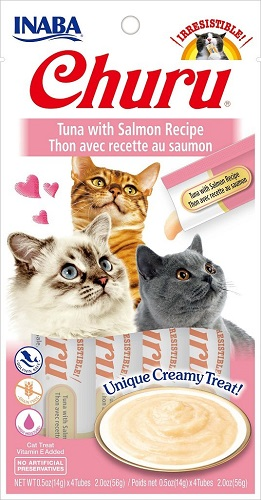 Inaba Churu GF Tuna with Salmon Puree Cat Trt 4pk