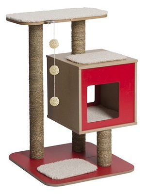Vesper Cat Furniture V-Base Red