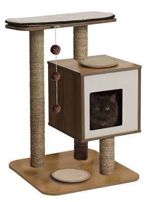 Vesper Cat Furniture V-Base Walnut