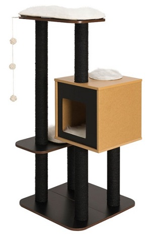 Vesper Cat Furniture V-High Base Black