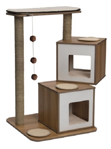 Vesper Cat Furniture, V-Double, Walnut