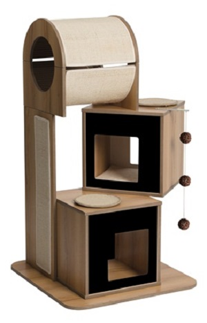 Vesper Cat Furniture, V-Tower, Black