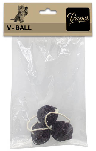 "Replacement V-Ball 1.6"", 3 PK w/String, Brown"