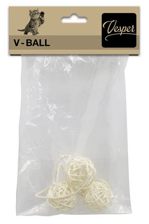 "Replacement V-Ball 1.6"", 3 PK w/String Light Rattan"