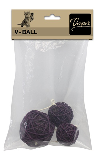 Replacement Vesper V-Ball 3 PK, Brown Assorted - Click Image to Close