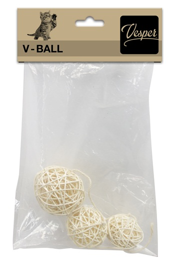 Replacement Vesper V-Ball 3 PK, Light Rattan Assorted