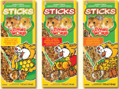 Living World Hamster Sticks