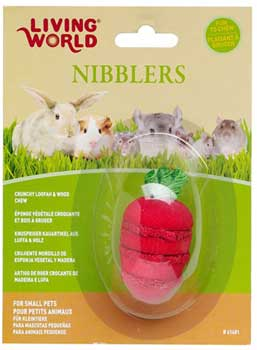 Living World® Nibblers Strawberry Loofah & Wood Chew
