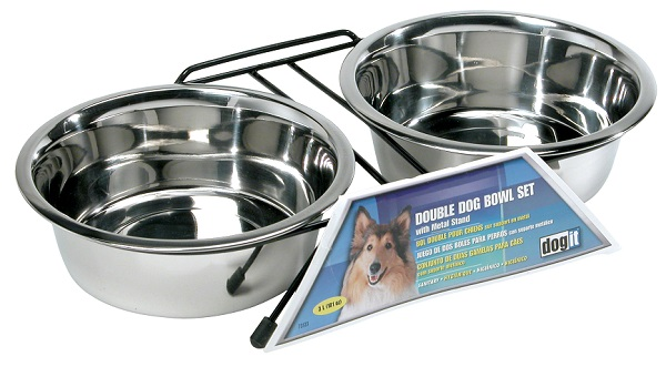 Dogit Stainless Steel Double Diner Dishs