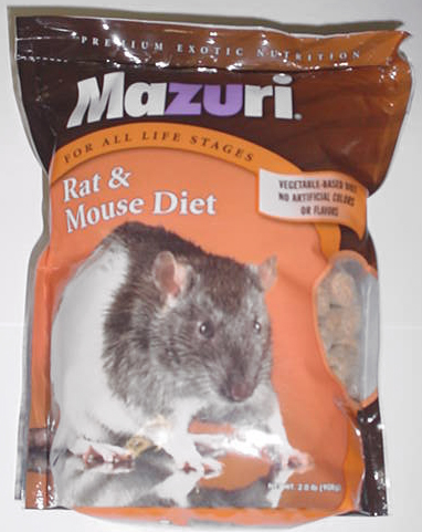 Next, let's take a look at Mazuri rat food. Mazuri rat food. Mazuri is a household name in the pet food world, and if you've used their other foods for your pets you might be keen to try the same with your rats. This rat diet, also suitable for mice, is considered nutritionally complete.