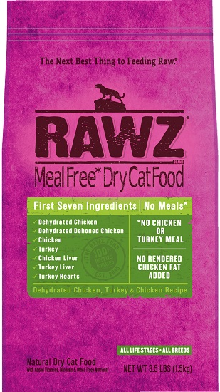 Rawz Meal Free Dry Cat Food Dehydrated Chicken, Turkey
