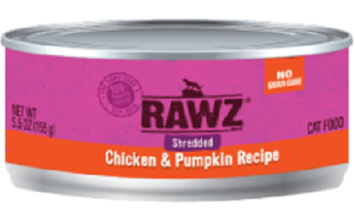 RAWZ Shredded Chicken & Pumpkin Canned Cat Food 5.5 oz.