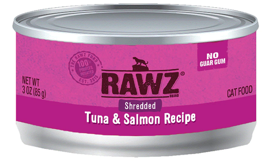 RAWZ Shredded Tuna & Salmon Canned Cat Food 5.5 oz.