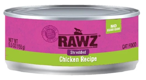 RAWZ Shredded Chicken Canned Cat Food 5.5 oz.