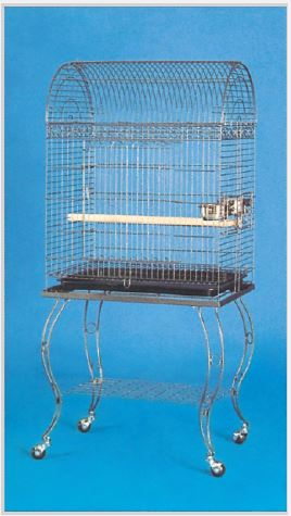 Arch Top Conure, Small Parrot Cage with Stand