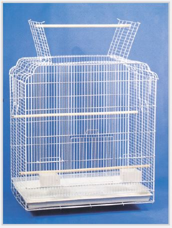 Open Top Play Cage White by TSI