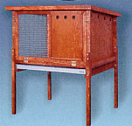"Rabbitat Hutch Deluxe by Ware 43""W x 35""D x 48"" High"
