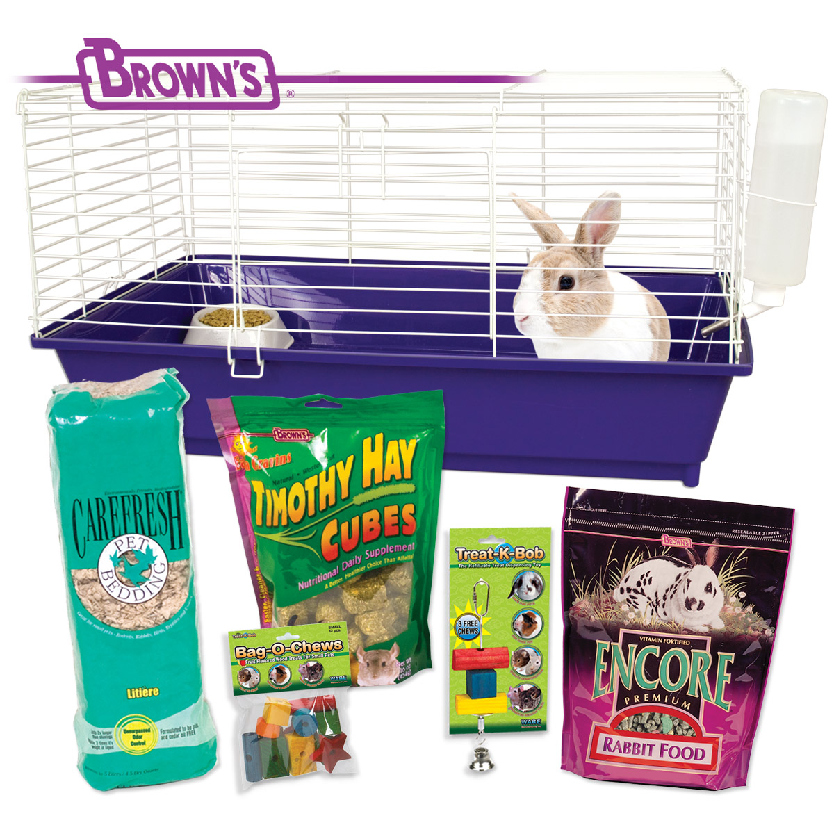 F.M. Brown Home Sweet Home Rabbit Starter Kit