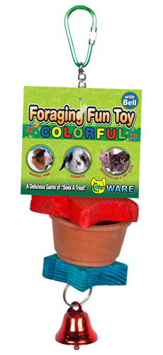 Foraging Fun Toy Colorful with Bell by Ware Mfg.