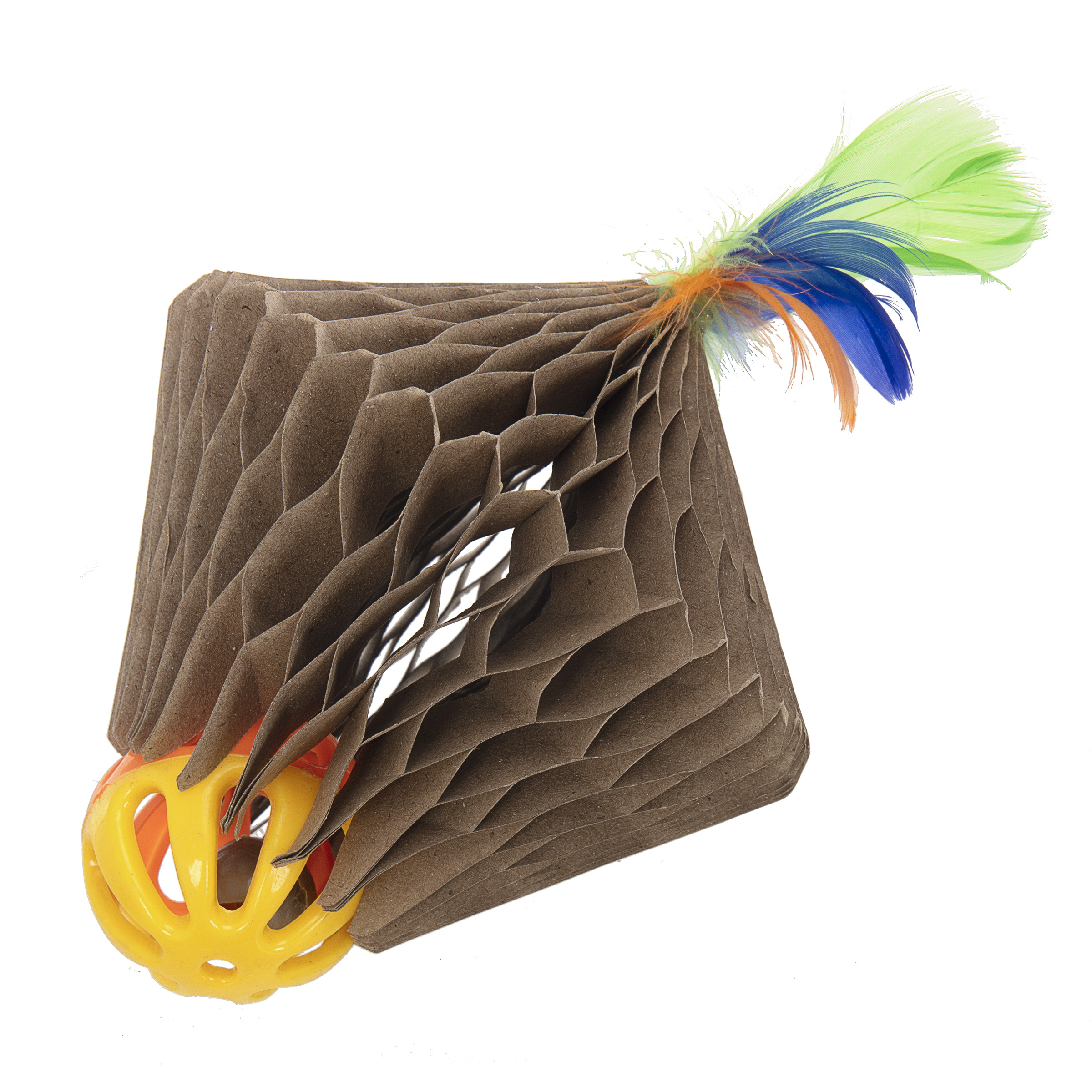 Corrugated Feather Top Cat Toy