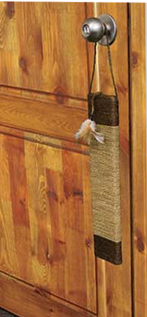 CatWare Seagrass Door Scratcher w/Feathers by Ware Mfg.