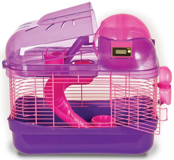 Spin City Health Club Small Animal Cage Pink & Purple