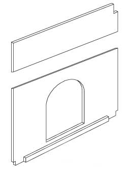 Replacement Divider Panel for Med. Premium Plus Hutch (WA 01515)