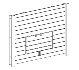 Replacement Left Side Panel for Prem + Chick-N-Barn (WA 01465)