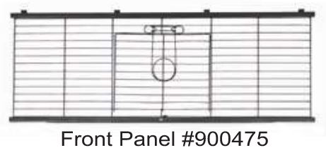 Replacement Front Panel for Living Room Rabbit Home (WA 1930)