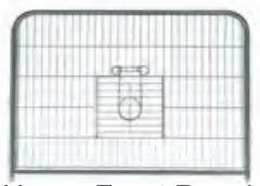Replacement Upper Front Panel Living Room Ferret Cage (WA 01924)