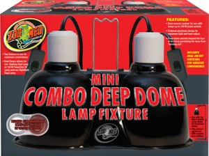 Mini Combo Deep Dome Lamp Fixture by ZooMed